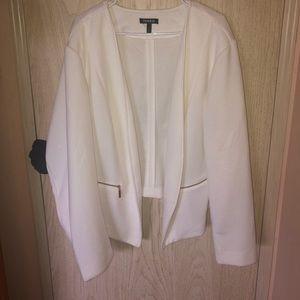 Jackets & Blazers - Torrid white jacket 5x